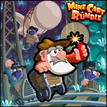 Mine Cart Rumble - Promo Art by zonefox