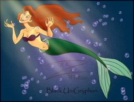 Low Res' Colored Ariel by BlackUniGryphon