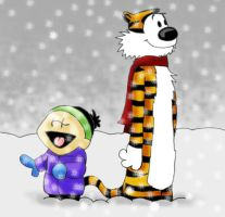 Calvin and Hobbes in the snow 1 by danidarko96
