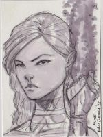 Psylocke Sketch Card by MikeVanOrden
