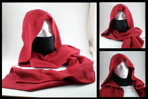 Red+Black ninja hoodie scarf by eitanya