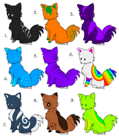 5 Point Kitties 5:9 OPEN by Tori-Eclipse-Adopts