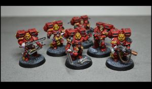 Blood Angels Assault Squad by TheWayOfTempest