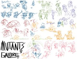 Mutants Galore: A sketchfest by Dream-Piper