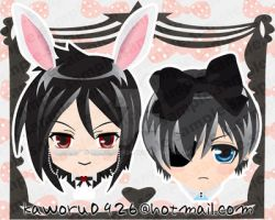 Black Butler Character Charms by kaworu0926