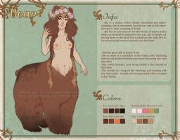 Reference sheet commission: Bear by Luciana-Lu