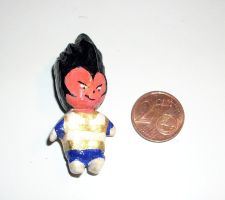 Tiny Vegeta Polymer Clay Dragonball Z by kratosisy