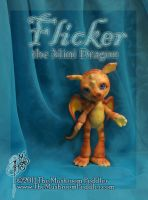 Flicker the Mini Dragon by TheMushroomPeddler