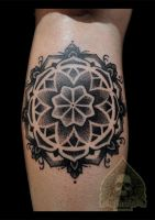 dotwork mandala by pande-lee