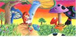 Knuckles in Mushroom Hills by seraph-of-enigma
