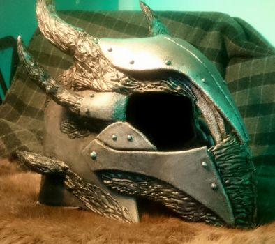 Skyrim Daedric armour, Finished Helmet by talkenia