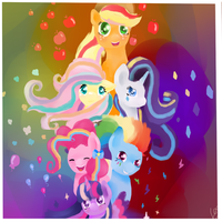 mlp rainbow power by happy-heart-1