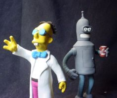 Profesor and Bender by AlbertoCarrera