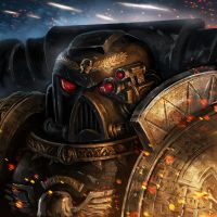 Deathwatch space marine by ameeeeba