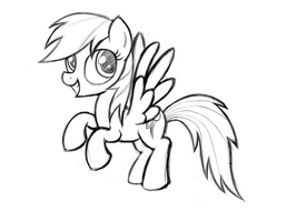 Dash flying (sketch) by HeavyMetalBronyYeah