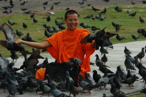 Happy Monk by LeahPhotography