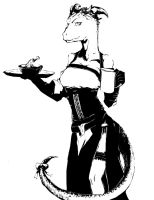 Skyrim - Argonian Maid by smilecat2501