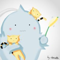 Alphonse Elric with Cats by Assassiiin