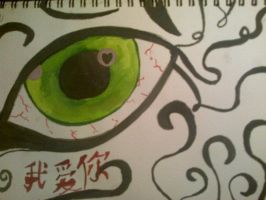 Chinese eye by thedevilhaswings