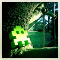 Hipstamatic Photo: Invader just chilling by ArcanePhotographer