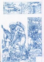 Old Rogue Trooper pencils by StazJohnson