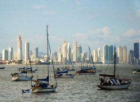 Panama City Squidding Boats by Mjag