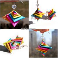 Colourful Spiral Origami Earrings :ON SALE: by MaGeXP
