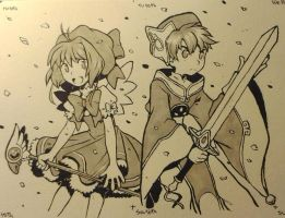 Sakura and Syaoran by Lumaga