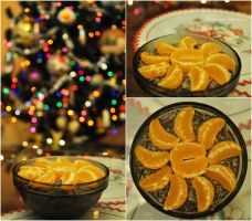 Christmas Eve - poppy and mandarines by fotografka