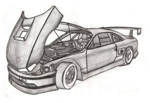 My Favorite And Awesome Car Drawing Art By Faik05 On