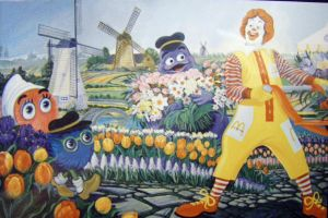 Ronald McDonald Flower Mural by HouseofChabrier