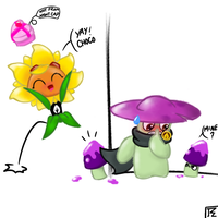 Happy Valenbrainz in PvZ Heroes by JackieWolly