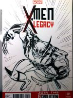 Wolverine Sketch cover by tombancroft
