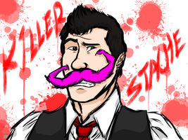 Markiplier - Killer-Stache *FROM THE LIVESTREAM!!! by SimplEagle