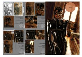 Catwoman - progress steps by eschaal