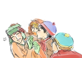 the south park boys by student-yuuto