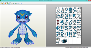 Veemon Papercraft by Elem97