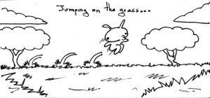 Jumping on the grass by Lennus