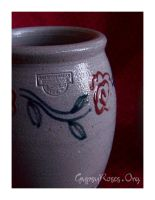 Spoon Jar with Roses by che4u