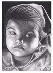 Graphite Baby Portrait by ArtEatsYou