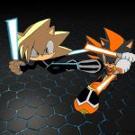 Dan and Shadze - LightSword Duel by ShadzeTheHedgehog