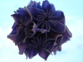 purple kusudama by GaBrIeLlA123
