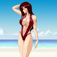 More Tifa At The Beach by wbd