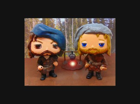Outlander Custom Pops Angus and Rupert by tool8smart