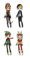 Pokemon Gijinka Adoptables - All Open by RukaSwift