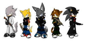 TGP Characters :Colored: by G-Wolfe