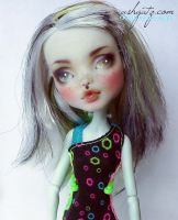 Monster High Frankie Stein Repaint 2 by AshGUTZ