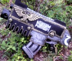 Flipside of the finished Relic Bolter by Cptspalding45