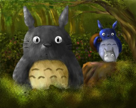 Totoro And His Friends by ravenousbeing