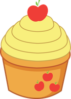 AppleJack Cupcake by ShadowFoxGraphics